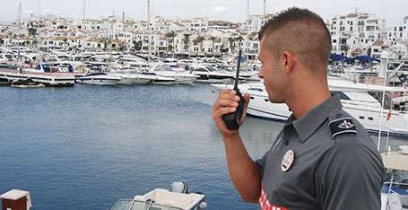 manned guardian in Marbella