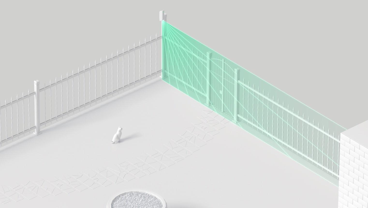 detector de exterior para detectar intrusión a un patio