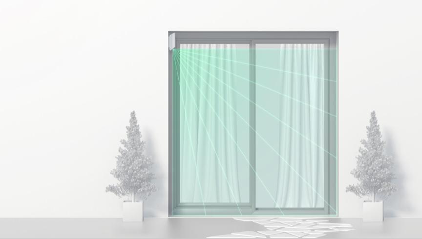 detector de exterior tipo cortina para cubrir ventanas