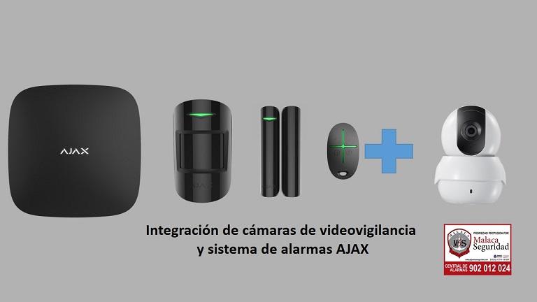 integracion cámaras y alarmas ajax
